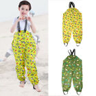 Fashion Girls Boys Reusable Rain-proof Pants Raincoat Kids W