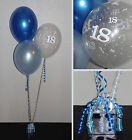 18th MALE BALLOON KIT - PARTY - BLUE - Helium DIY Party Decoration Kit Clusters