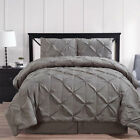 Contemporary Gray Oxford Pleated Comforter Set image