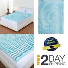 "Mattress Topper Gel Memory Foam 2"" Orthopedic Pad Bed Cover Firm-Full Queen King image"