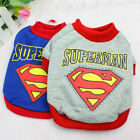 Small Dog Clothes Jumper Superman Cat Puppy Hoodie Shirt Pet Costume Sweater New