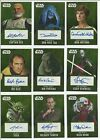 2016 Topps Star Wars Evolution Gold Parallel Autograph Card Serial #ed / 10 $104.96 CAD on eBay