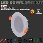 1/6XLED DOWBLIGHT KIT DIMMABLE 70MM 10W IP44 WARM/DAYLIGHT WHITE OR COOL WHITE