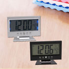 Electric Alarm Clock Multifunction Sound Control Silent LCD Digital Large Screen