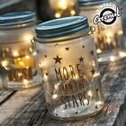 Vintage Retro Style Glass Jar with 10 LED Lights Battery Operated