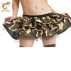 Ladies Sexy Twin Layer Camouflage Tutu Skirt Womens Fancy Party Skirt Dress