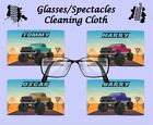 MONSTER TRUCK GLASSES CLEANING CLOTH GIFT IDEA PERSONALISED FREE OF CHARGE