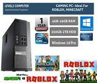Gaming Pc Fast Dell Core I5 16gb Ram 2tb Hdd Windows 10 Computer Desktop Uk