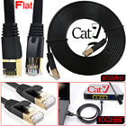 RJ45 CAT7 Network Ethernet SSTP 10Gbps Gigabit Ultra-Thin Patch Flat Cable UK