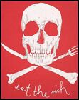 Eat the Rich Skull revolution anarchy 1 MEN'S T SHIRT 6 sizes 8 colours