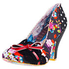 Irregular Choice Make My Day Womens Black Textile Casual Shoes Slip-on