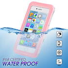For iPhone X 6s 7 8 Plus Waterproof Shockproof Dirt Proof Case Full Clear Cover