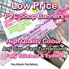 Heavy Duty PVC Banner Outdoor Vinyl Banner Advertising Sign Display from £9.95