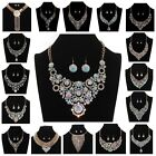 Pearlescent Fashion Charm Jewellery Pendant Chain Crystal Choker Chunky Necklace