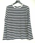 Men's Womens Easy Long Sleeve Stripe Crew Neck Cotton T-Shirts WAS £10 NOW £5.99