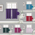 """Kitchen Rod Pocket Insulated Blackout Window Tier Curtains 1 PAIR 30""""x36"""" RS5"""
