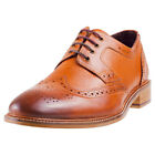 London Brogues Hamilton Derby Mens Tan Leather Casual Shoes Lace-up New Style