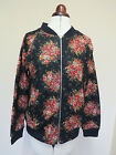 Boden Sophia Bomber Jacket- Black With Floral Pattern- Size 12 *LAST 1*