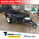 Watchers:438 6x4 SINGLE AXLE HEAVY DUTY BOX TRAILER | SMOOTH FLOOR | FIXED FRONT | NEW TYRES