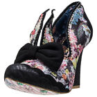 Irregular Choice Oh Mama Womens Black Synthetic & Fabric Casual Shoes Slip-on