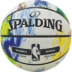 Spalding NBA Marble BW/ MC Out sz. 7 and 5 Basketball Outdoor Various Colours