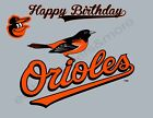 Baltimore Orioles Edible Print Premium Cake Toppers Frosting Sheets 5 Sizes