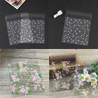 100X Self Seal Adhesive Rose Flower Plastic Cellophane Cookies Candy Gift Bag Fa