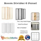 Privacy Screen Office Partition Room Divider 6 Panel Home Decor Salon Folding