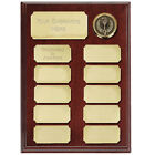 WOOD SHIELD ANNUAL PERPETUAL AWARD GOLD PLATES 2 SIZES AVAILABLE ENGRAVED FREE