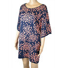 Ex MONSOON Navy Pink Knitted Tunic Top Dress