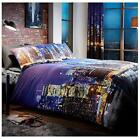 Lions Modern Nightlife Poly-Cotton Quilt Duvet Cover Bedding Set Pillow Cases