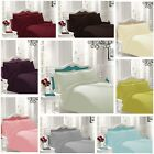 Percale Flat Bedsheet Non Iron Extra Deep Bed Sheet Bedding Poly-Cotton All Size