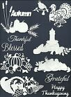 4 GROUPS COMBINED THANKSGIVING AUTUMN FALL DIE CUTS* SUB-SETS LOTS 5-69 PCS READ