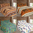 Luxury Western Horse & Dream Catcher Feathers Bedspread Comforter Set 3pc Quilt! image