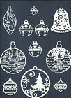 5 GROUPS COMBINED CHRISTMAS ORNAMENTS DIE CUTS* SUB-SETS LOTS 4 - 24 PCS. READ