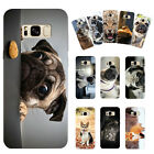 Animals Dog Pugs Turtle Leopard Hard Phone Case Cover For Samsung S6/7E S8 Plus