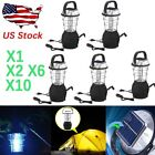 36 LED Hand Crank Solar Lantern Bright Rechargeable Outdoor Camping Light X2 X10