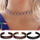 New Fashion Leather Flower Classic Choker Necklace Vintage Hippy Chocker