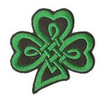 "1.1/2"" Shamrock Iron On Applique in Two Designs x 2"