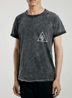 New TOPMAN Black Wash NYC Short Sleeved Tee Shirt Top XS Small Med