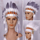 Indian Chief Natural Feather Headdress Headband Headgear Stage Performances