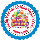 Personalised Party Stickers for Party Bags/Sweet Cones etc Ref BALL01-02