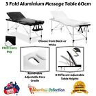 3 Fold Portable Aluminium Massage Table Bed Chair Beauty Therapy Waxing 60cm NEW