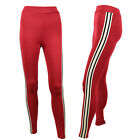 NEW TOPSHOP RED SLIM JOGGER BOTTOMS SINGLE STRIPE SIZE 6 - 16  TROUSERS