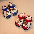 New Summer Kids Baby Toddlers Girls&Boys Squeaky Sandals Cute Dogs Bells 0-1-2T