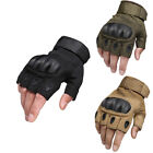 Tactical Fingerless 1/2 Finger Carbon Fiber Hard Knuckle Shooting Gloves