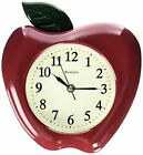 WESTCLOX Westclox 3D Apple Wall Clock, 10- Pick SZ/Color.