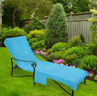 Pool Side Chaise Cover, Pool lounge, Lawn & Patio Chair Cover w/ Pocket 6 colors