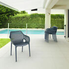 """Siesta 17.5"""" Air XL Resin UV-Resistant Stackable and Polypropylene Outdoor"""