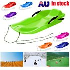 Skiing Board Sled Luge Snow Grass Sand Board Pad With Rope For Double People AQ $32.21 AUD